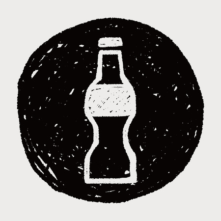 carbonated beverage: bottle doodle