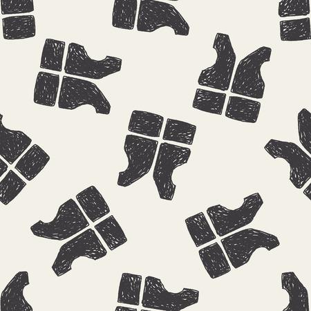 life jacket: life jacket doodle seamless pattern background
