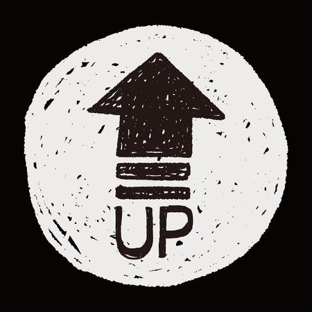 up arrow: up arrow doodle
