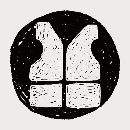 life jacket: life jacket doodle Illustration