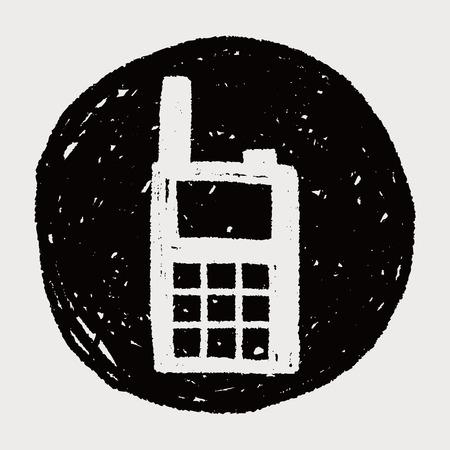 transceiver: handheld transceiver doodle