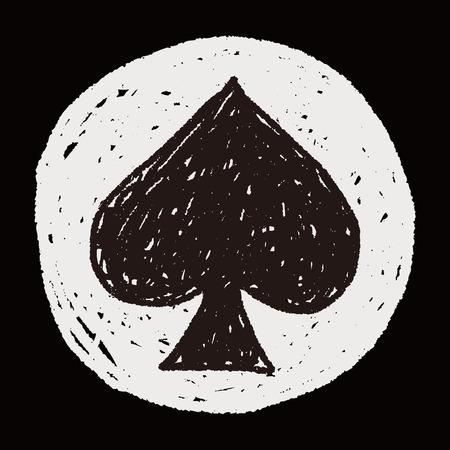 Spades doodle Vector
