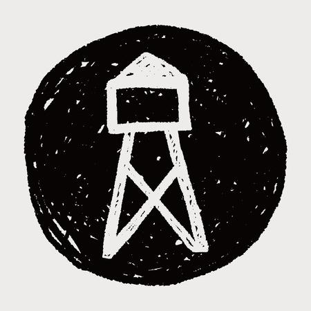 telephone pole: Transmission tower doodle