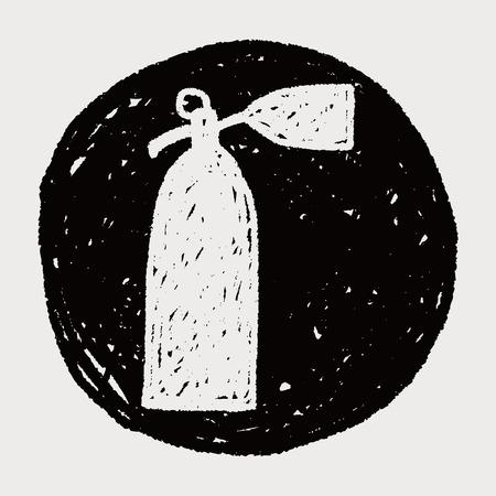 extinguish: Fire extinguisher doodle