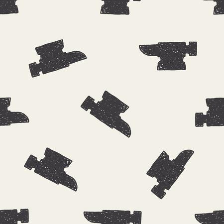 forge: blacksmith doodle seamless pattern background