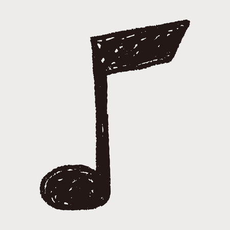 music notes: music note doodle drawing