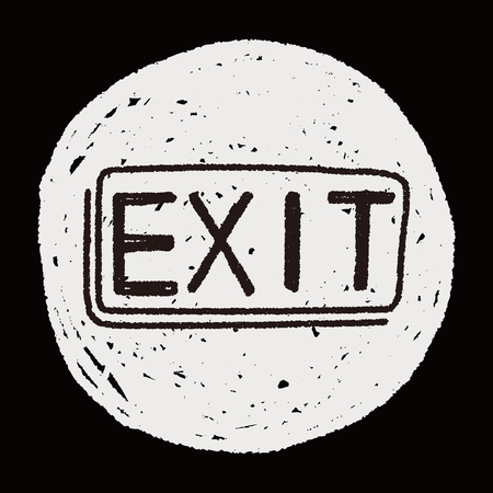 exit doodle Vector