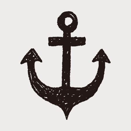 anchor drawing: Anchor doodle Illustration