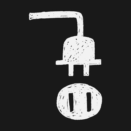 plug doodle Vector
