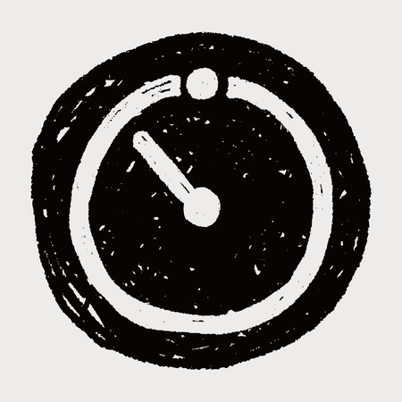 countdown: time countdown doodle Illustration
