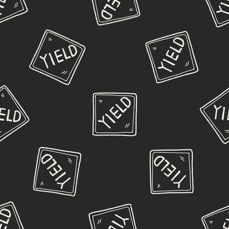 yield: yield doodle seamless pattern background Illustration