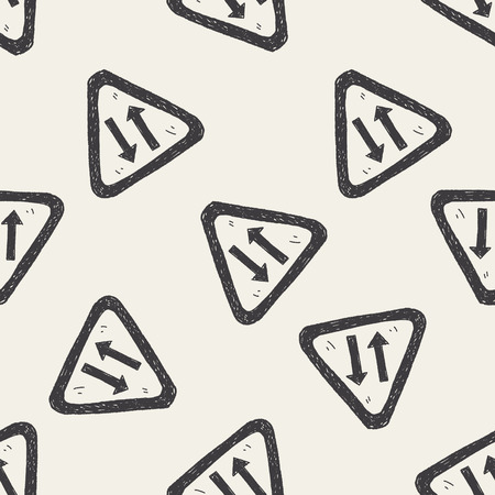 two way: Two way doodle seamless pattern background