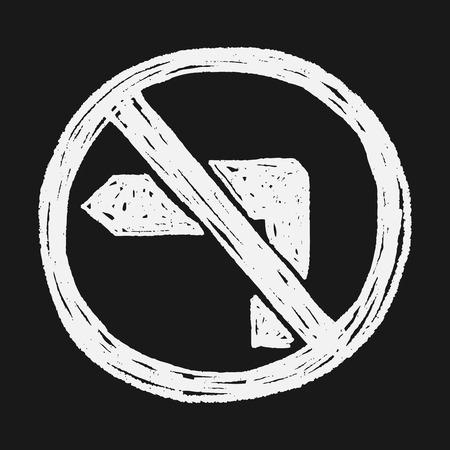 turn: no left turn doodle