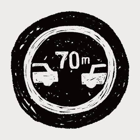 minimální: Minimální bezpečná vzdálenost doplňuje doodle
