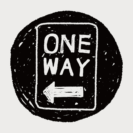 one way: une fa�on signe doodle