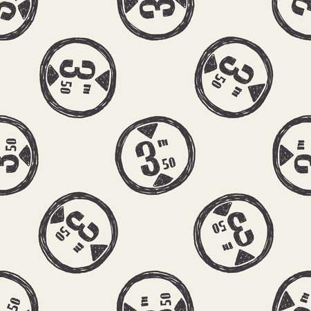 maximum: Maximum height doodle seamless pattern background