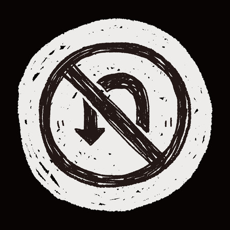 turn back: no Turn back doodle