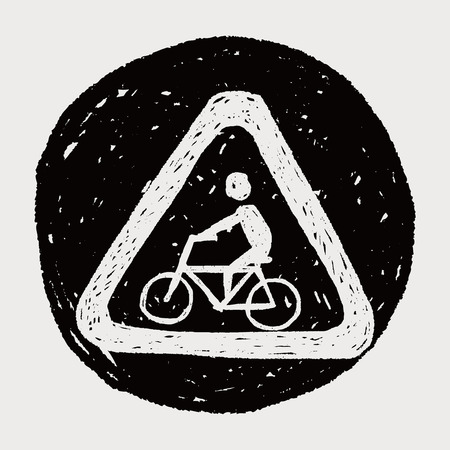 bicycle sign doodle Vector