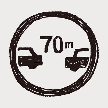 following: Minimum safe following distance  doodle