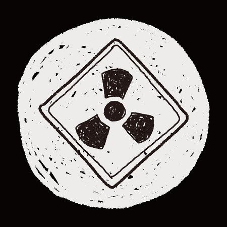 nuclear sign: Nuclear power sign doodle