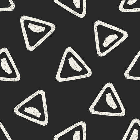 uneven: Uneven road doodle seamless pattern background