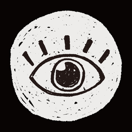 Doodle de ojo Foto de archivo - 41254954
