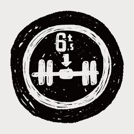 axle: Maximum weight per axle. doodle Illustration