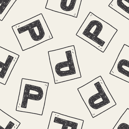 car park: car park doodle seamless pattern background