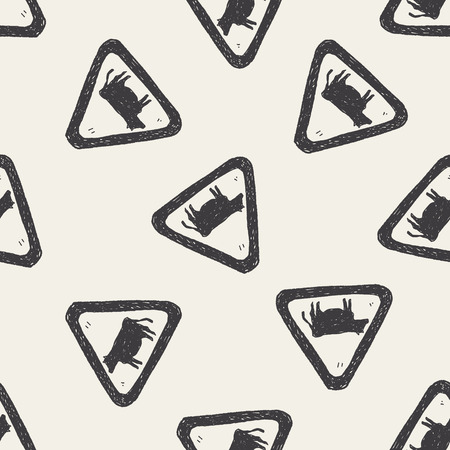 cow sign doodle seamless pattern background