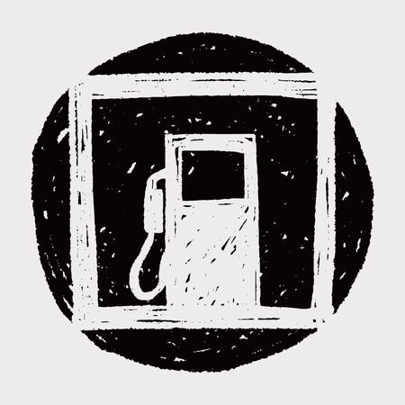 Petrol gas station doodle