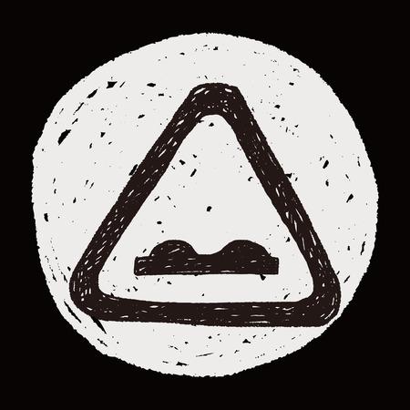 uneven: Uneven road doodle