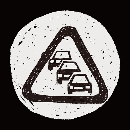 likely: Traffic jam doodle