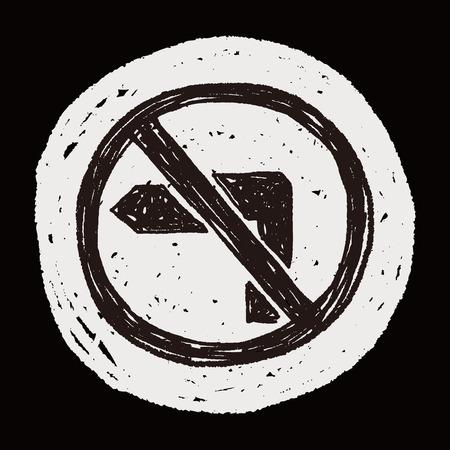 obedecer: sin su vez garabato izquierda Vectores