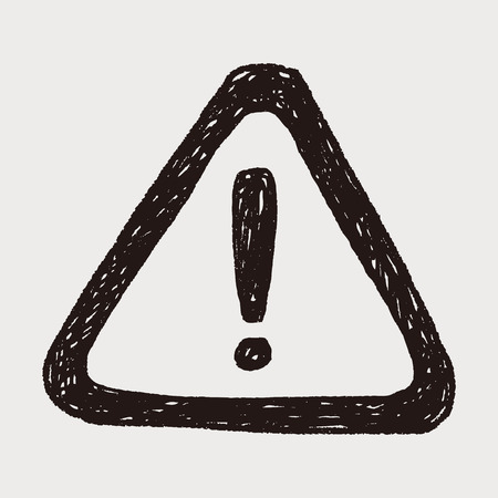 warning doodle 일러스트