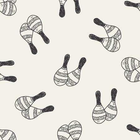 maraca: maraca doodle seamless pattern background