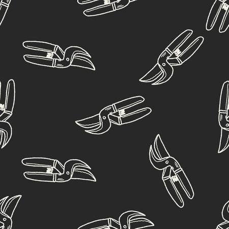 pruner: scissor doodle seamless pattern background