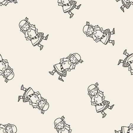 costume eye patch: pirate doodle seamless pattern background