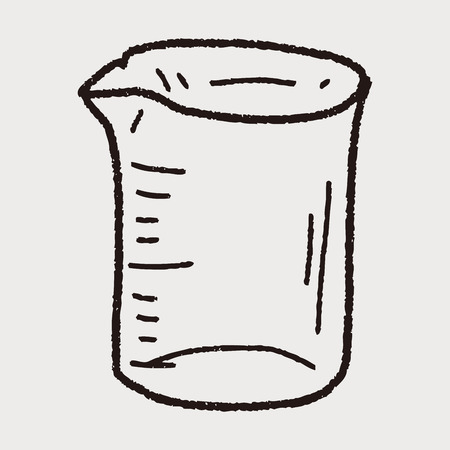 Measuring cup doodle 向量圖像