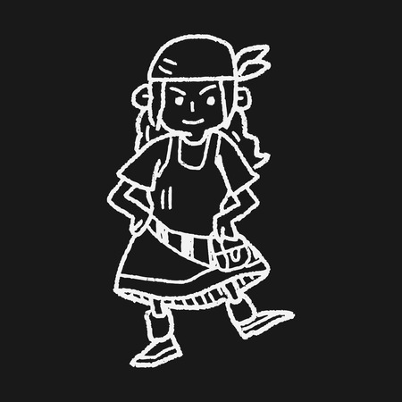 pirate doodle Vector