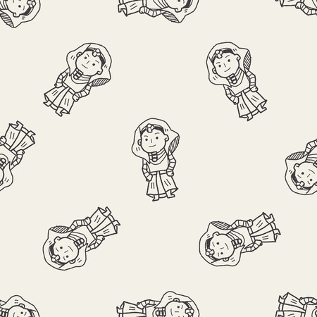 pharaoh: pharaoh doodle seamless pattern background