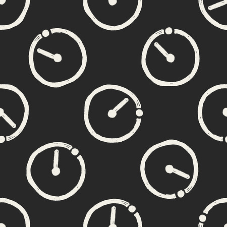 countdown: time countdown doodle seamless pattern background