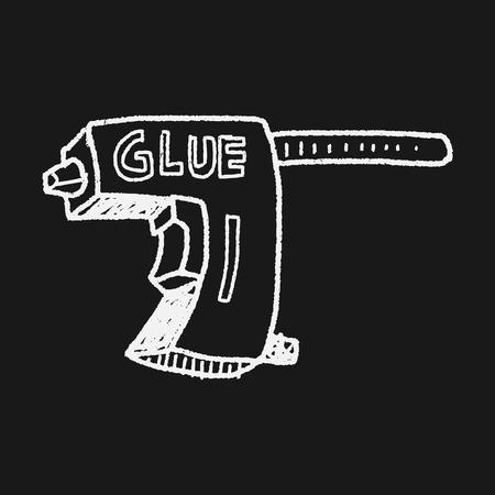 glue: Glue gun doodle