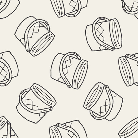 paint bucket: paint bucket doodle seamless pattern background