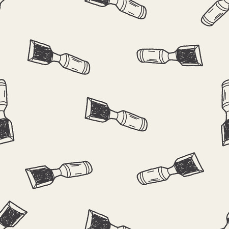 chisel: Chisel doodle seamless pattern background