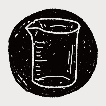 measuring cup: Measuring cup doodle Illustration
