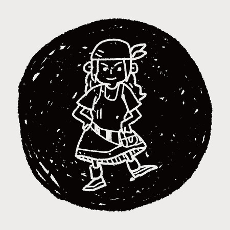 costume eye patch: pirate doodle