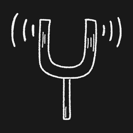 tuning fork: tuning fork doodle Illustration
