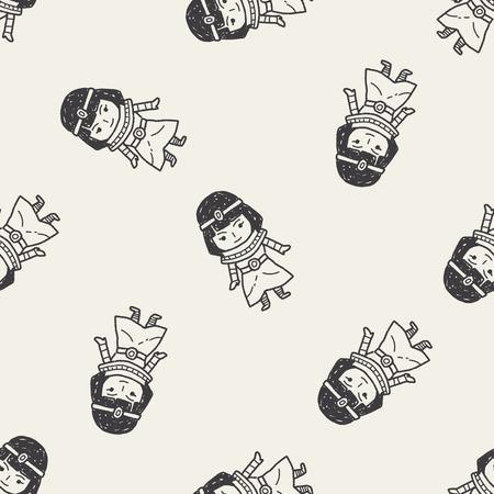 cleopatra: egypt doodle seamless pattern background