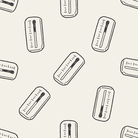 thermometer: Thermometer doodle seamless pattern background