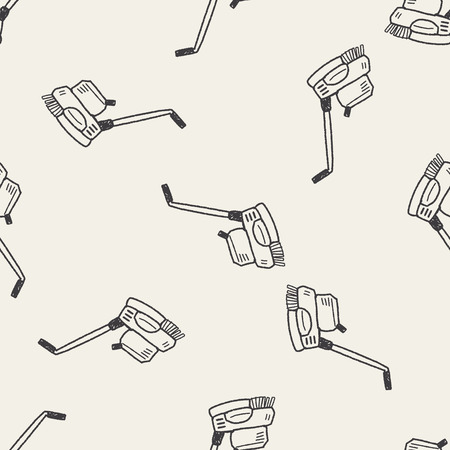 janitorial: floor buffing machines doodle seamless pattern background Illustration